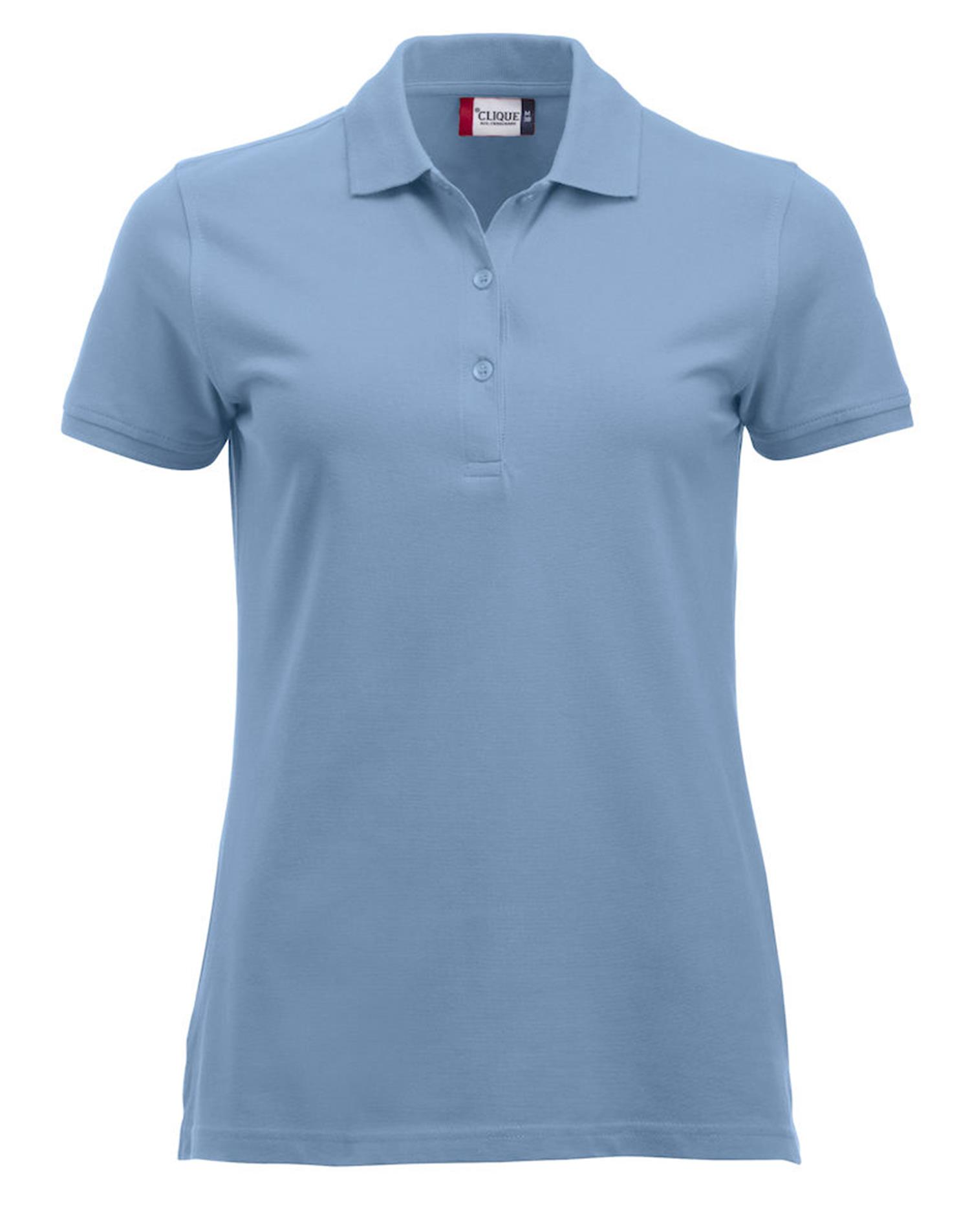 NewWave Polo Donna Marion Manica Corta (L - LIGHT BLUE)