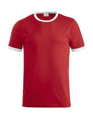 NewWave T-shirt mod. nome bi colore 160 gm (S - ROSSO)