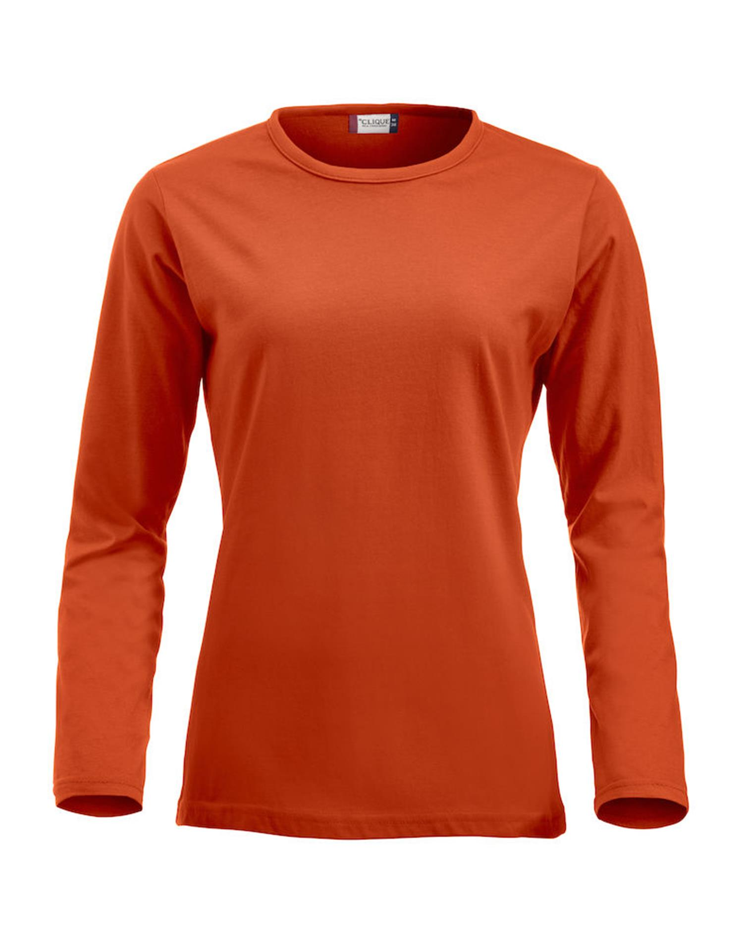 NewWave Fashion-T Ladies Long Sleeve (M - ARANCIONE)
