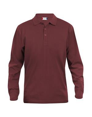 NewWave Polo Lincoln Manica Lunga (L - BORDEAUX)