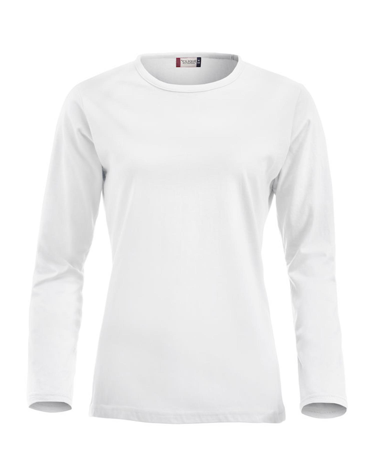 NewWave Fashion-T Ladies Long Sleeve (S - BIANCO)