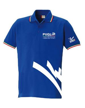 C.R.PUGLIA Polo Tricolore Commissario Tecnico (XL - ROYAL)