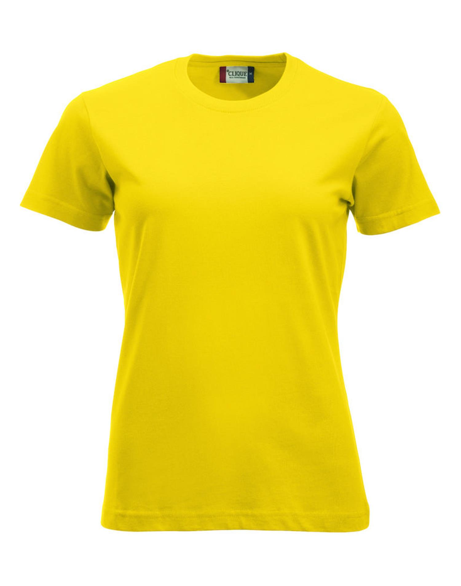 NewWave T-shirt New Classic-T Ladies (XS - GIALLO)