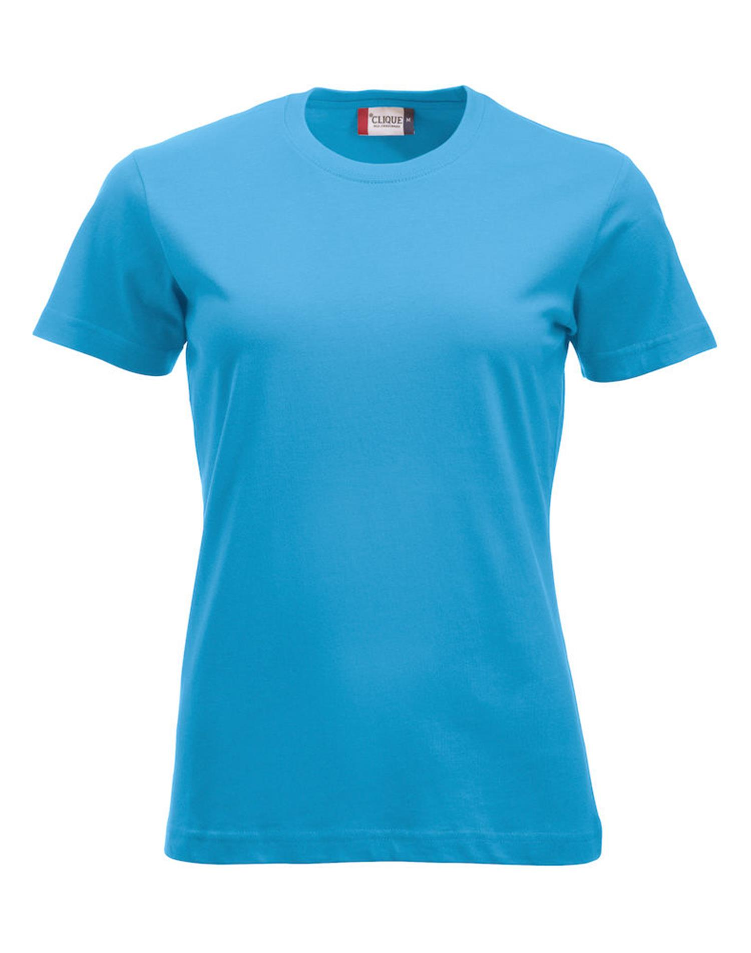 NewWave T-shirt New Classic-T Ladies (S - TURCHESE)