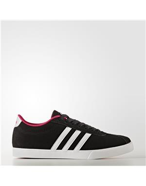 ADIDAS Courtset Shoes Donna (38-2/3 - NERO - BIANCO - ROSA)