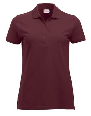 NewWave Polo Donna Marion Manica Corta (M - BORDEAUX)