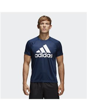 ADIDAS T-shirt Design to Move Logo (S - BLU NAVY)