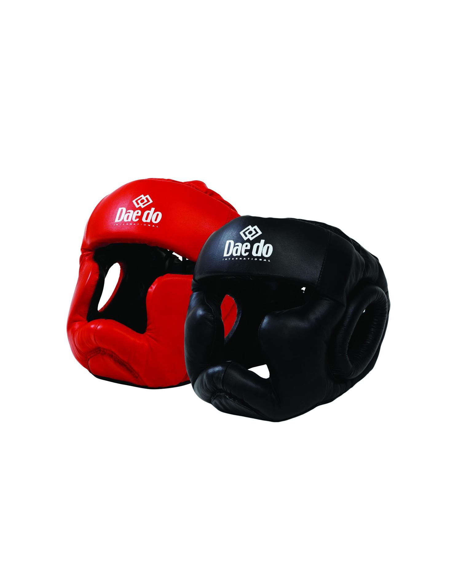 Dae Do Casco Full Contact in Pelle (M - ROSSO)