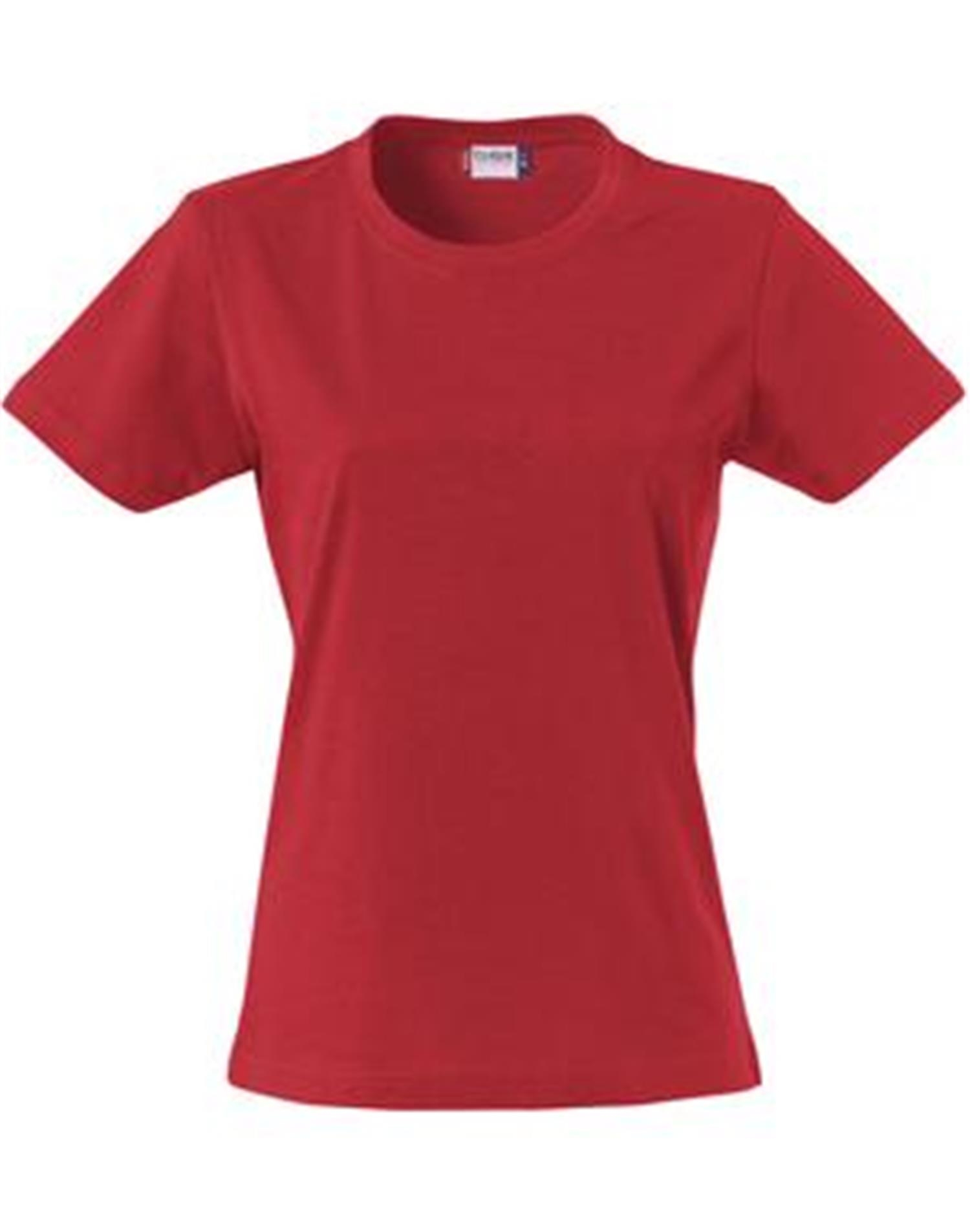 NewWave T-shirt donna  basic-t clique 145 gm (M - ROSSO)