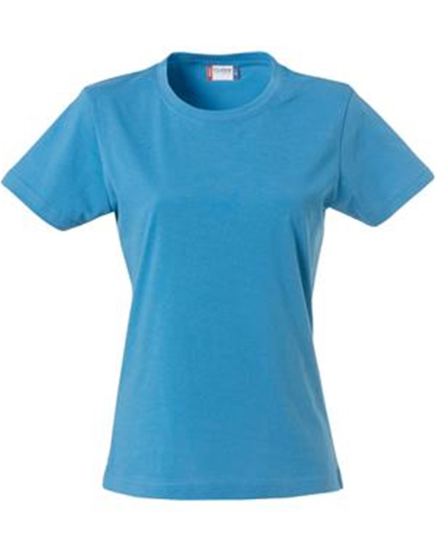NewWave T-shirt donna  basic-t clique 145 gm (XS - TURCHESE)