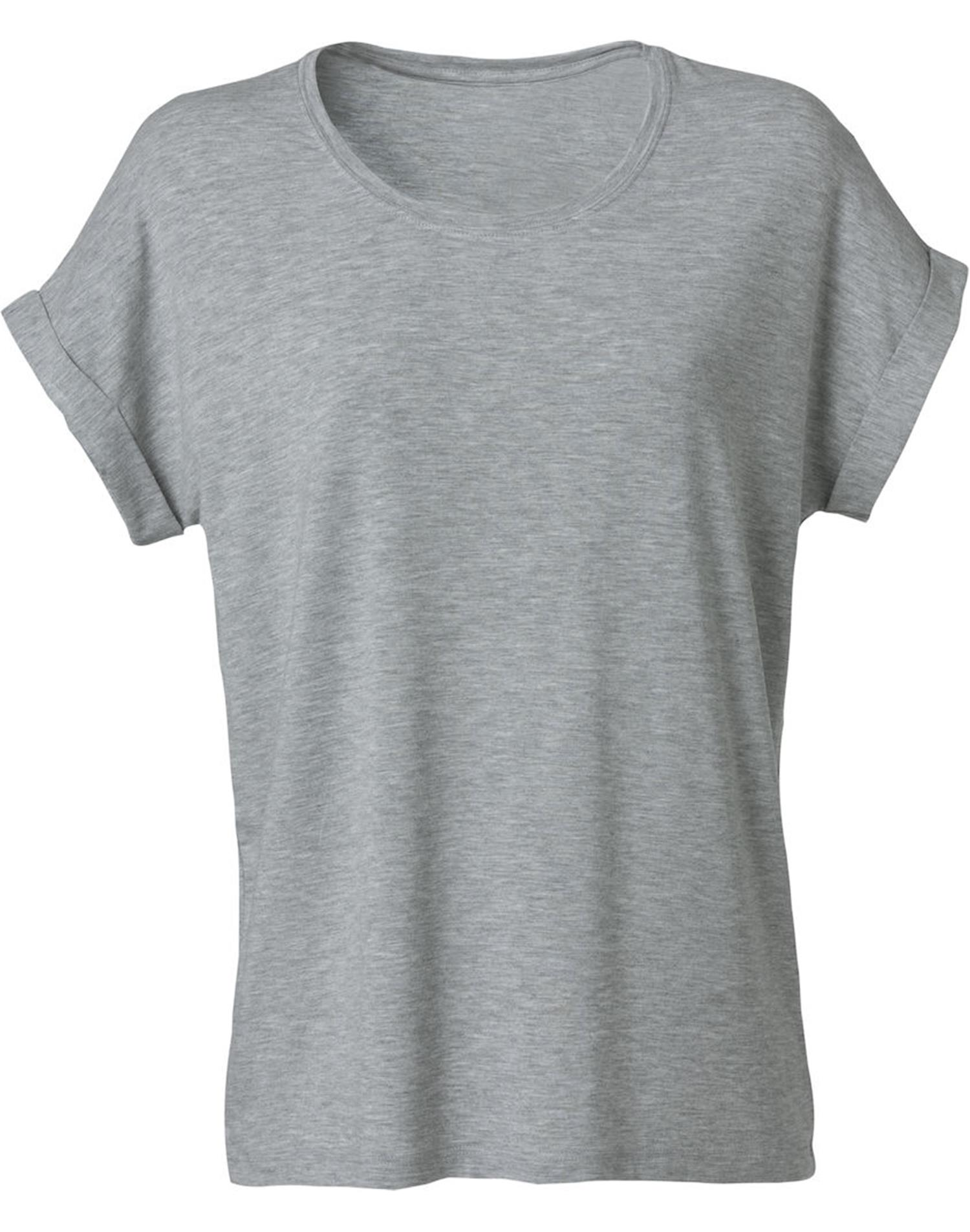 NewWave T-Shirt Donna Loose-Fit (2XL - GRIGIO MELANGE)