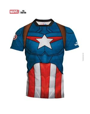 Dae Do Maglietta Junior Capitan America Full Print Slim Fit (16 - BLU ROYAL)