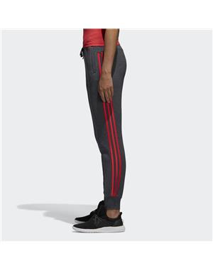 ADIDAS PANTALONE DONNA ESSENTIALS 3-STRIPES (S - GRIGIO - ROSA)