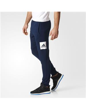 ADIDAS Pantaloni Essentials box logo (L - BLU NAVY)