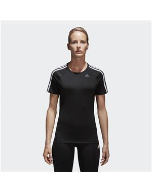 ADIDAS T-SHIRT DONNA D2M 3 STRIPES TEE (XS - NERO)