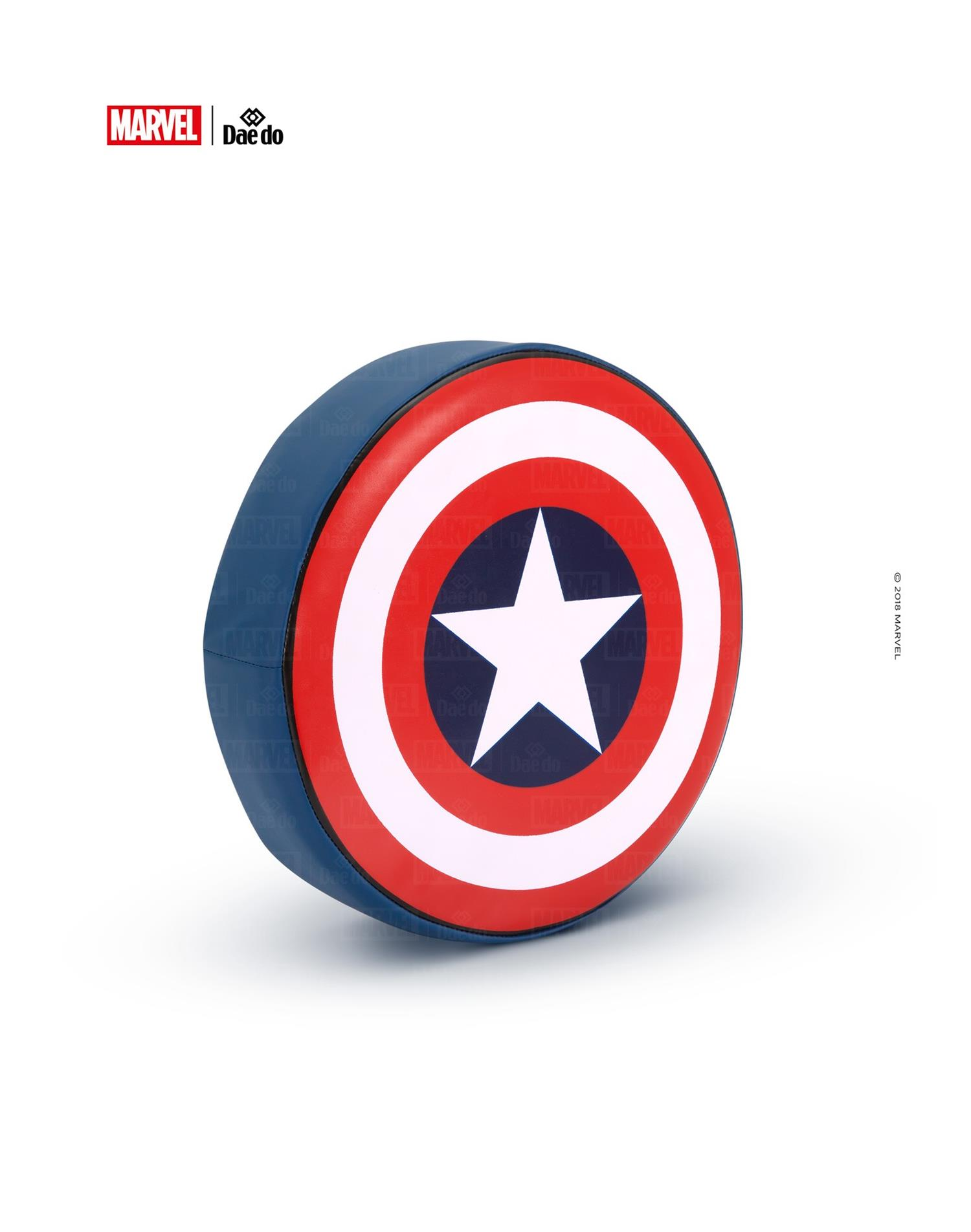 Dae Do Colpitore Tondo Capitan America (Diametro 30 cm - BLU ROYAL)