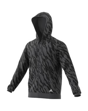 ADIDAS FELPA ESSENTIALS AOP FULL ZIP HDY (2XL - GRIGIO - NERO)