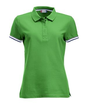 NewWave Polo donna  clique newton colletto colorato (L - VERDE MELA)