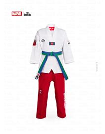 Dobok Marvel Spiderman Collo Bianco