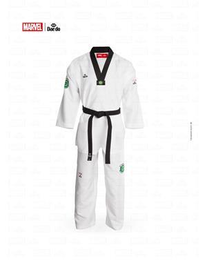 Dae Do Dobok Marvel Hulk Collo Nero (5° - 180cm - BIANCO Hi-Tech)