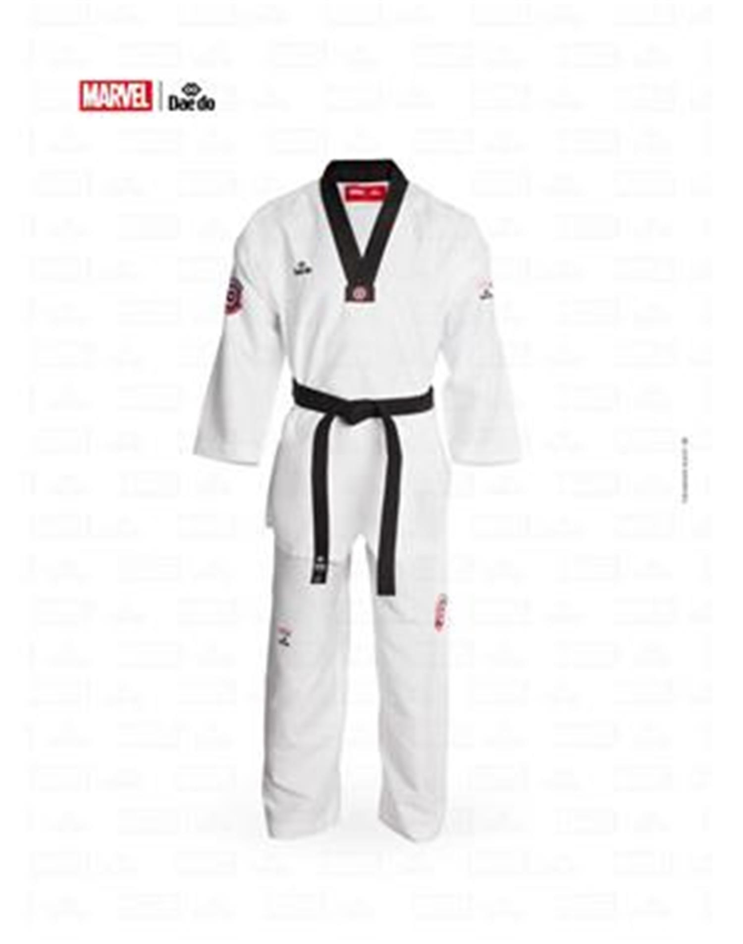 Dae Do Dobok Capitan America Collo Nero (6° - 190cm - BIANCO Hi-Tech)