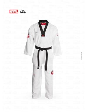 Dae Do DOBOK MARVEL AVENGERS COLLO NERO (3° - 160cm - BIANCO Hi-Tech)