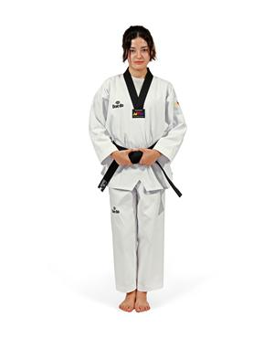Dae Do Dobok WTF Collo Nero Base Dae do (0° - 130cm - BIANCO)