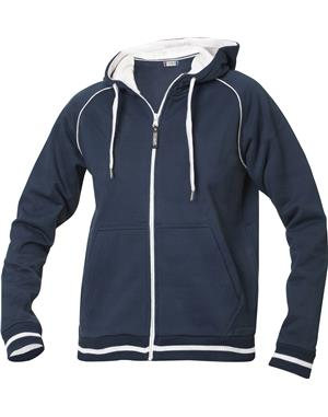 NewWave Felpa donna con cappuccio full zip clique grace (XL - BLU NAVY)