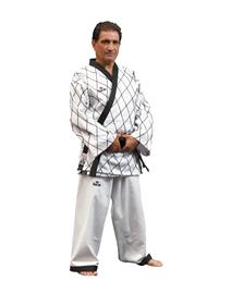 Dae Do Kimono Dae do Hapkido Maestro Rombi con Bordadura Nera