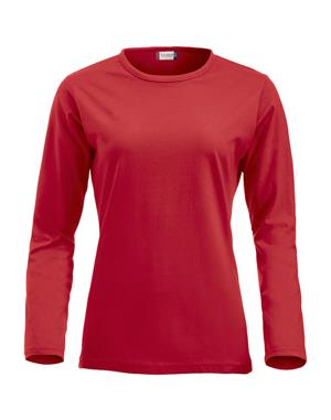 NewWave T-shirt Fashion-T Donna Maniche Lunghe (M - ROSSO)