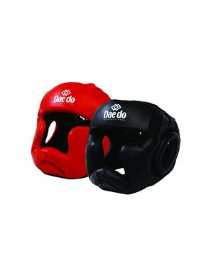 Dae Do Casco Full Contact in Pelle (L - ROSSO)