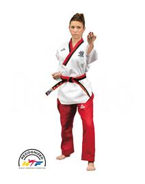 Dae Do Dobok WTF Poomsae Donna Rosso-Nero Dae do