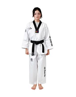Dae Do Dobok WTF Seoul Dae do (3° - 160cm - BIANCO collo NERO)