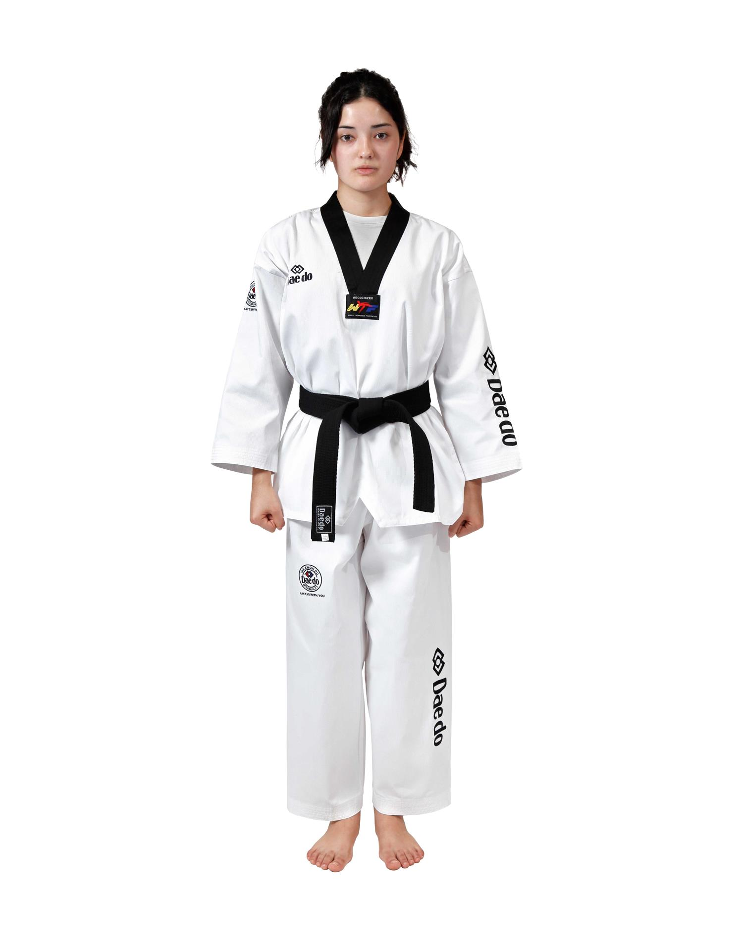 Dae Do Dobok WTF Seoul Dae do (6° - 190cm - BIANCO collo NERO)