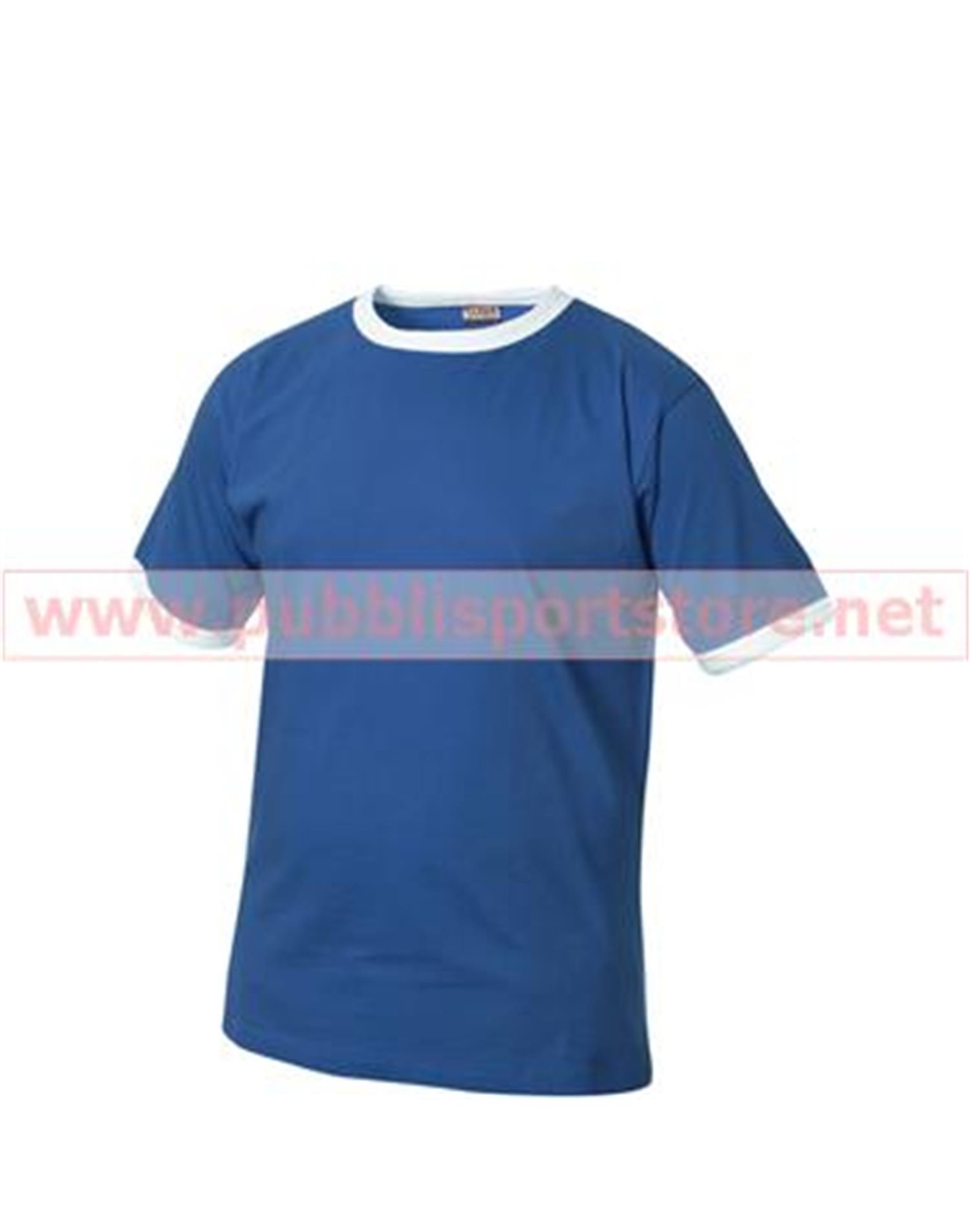 NewWave T-shirt mod. nome bi colore 160 gm (L - ROYAL)