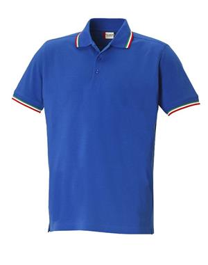 NewWave Polo clique amarillo (2XL - ROYAL/TRICOLORE)